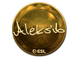 Sticker   Aleksib (Gold)   Katowice 2019