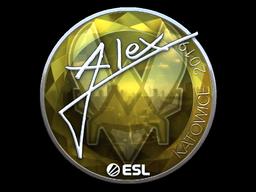 Sticker   ALEX (Foil)   Katowice 2019