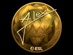 Sticker   ALEX (Gold)   Katowice 2019