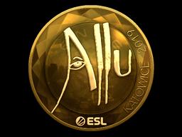 Sticker   allu (Gold)   Katowice 2019