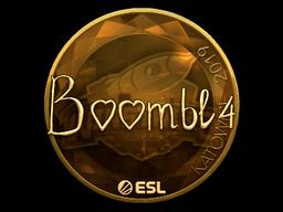 Sticker   Boombl4 (Gold)   Katowice 2019