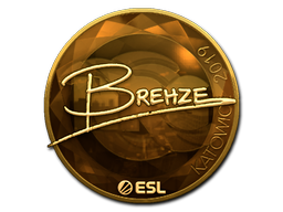 Sticker   Brehze (Gold)   Katowice 2019