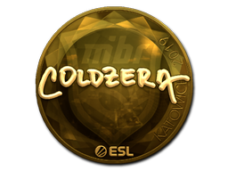 Наклейка | coldzera (золотая) | Катовице 2019