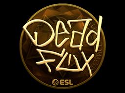 Наклейка | DeadFox (золотая) | Катовице 2019