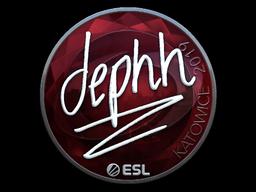 Наклейка | dephh (металлическая) | Катовице 2019