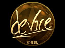 Наклейка | device (золотая) | Катовице 2019