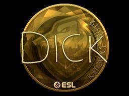 Sticker   DickStacy (Gold)   Katowice 2019