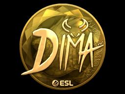 Sticker   Dima (Gold)   Katowice 2019