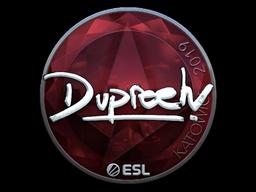 Наклейка | dupreeh (металлическая) | Катовице 2019