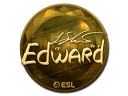 Наклейка | Edward (золотая) | Катовице 2019