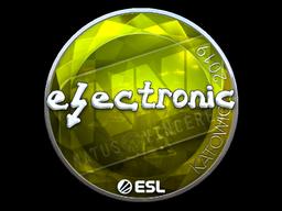Наклейка | electronic (металлическая) | Катовице 2019