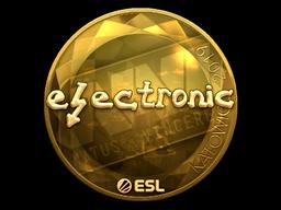 Наклейка | electronic (золотая) | Катовице 2019