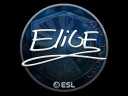 Наклейка | EliGE (металлическая) | Катовице 2019
