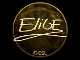Наклейка | EliGE (золотая) | Катовице 2019