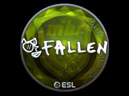 Наклейка | FalleN (металлическая) | Катовице 2019