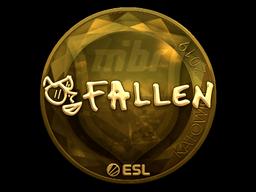 Наклейка | FalleN (золотая) | Катовице 2019