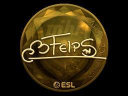 Наклейка | felps (золотая) | Катовице 2019