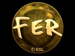 Наклейка | fer (золотая) | Катовице 2019