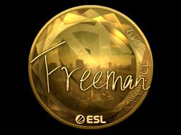 Sticker   Freeman (Gold)   Katowice 2019