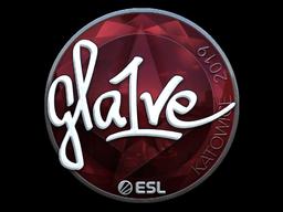 Наклейка | gla1ve (металлическая) | Катовице 2019
