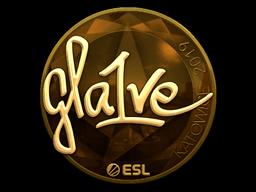 Наклейка | gla1ve (золотая) | Катовице 2019