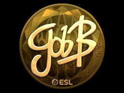 Наклейка | gob b (золотая) | Катовице 2019