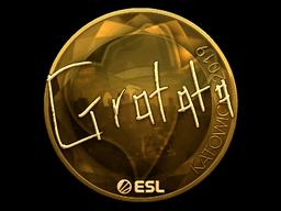 Sticker   Gratisfaction (Gold)   Katowice 2019