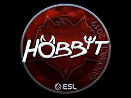 Наклейка | Hobbit (металлическая) | Катовице 2019