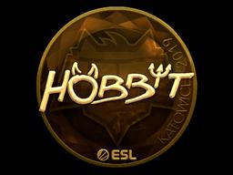 Наклейка | Hobbit (золотая) | Катовице 2019