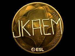 Sticker   jkaem (Gold)   Katowice 2019