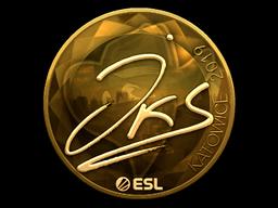 Sticker   jks (Gold)   Katowice 2019