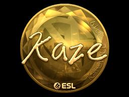Sticker   Kaze (Gold)   Katowice 2019
