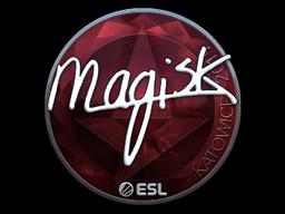 Наклейка | Magisk (металлическая) | Катовице 2019