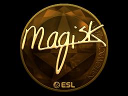 Наклейка | Magisk (золотая) | Катовице 2019