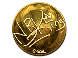Sticker   NBK- (Gold)   Katowice 2019