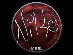 Наклейка | NiKo (металлическая) | Катовице 2019