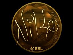 Наклейка | NiKo (золотая) | Катовице 2019