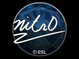 Наклейка | nitr0 (металлическая) | Катовице 2019