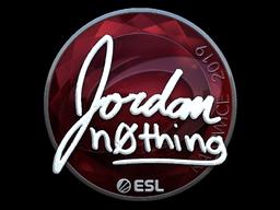 Наклейка | n0thing (металлическая) | Катовице 2019