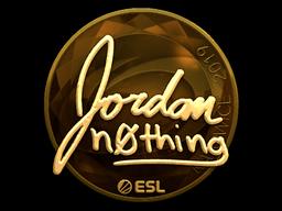 Наклейка | n0thing (золотая) | Катовице 2019