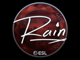 Наклейка | rain (металлическая) | Катовице 2019