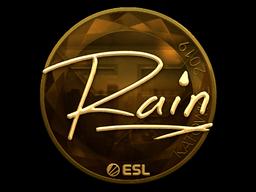 Наклейка | rain (золотая) | Катовице 2019