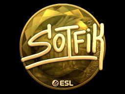 Sticker   S0tF1k (Gold)   Katowice 2019
