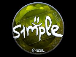 Наклейка | s1mple (металлическая) | Катовице 2019
