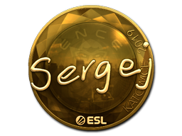 Sticker   sergej (Gold)   Katowice 2019