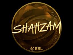 Наклейка | ShahZaM (золотая) | Катовице 2019