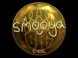 Наклейка | smooya (золотая) | Катовице 2019