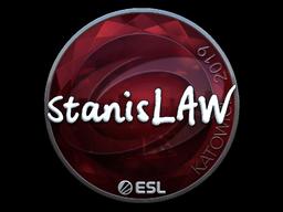 Наклейка | stanislaw (металлическая) | Катовице 2019