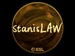 Наклейка | stanislaw (золотая) | Катовице 2019