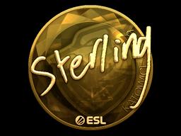 Sticker   sterling (Gold)   Katowice 2019
